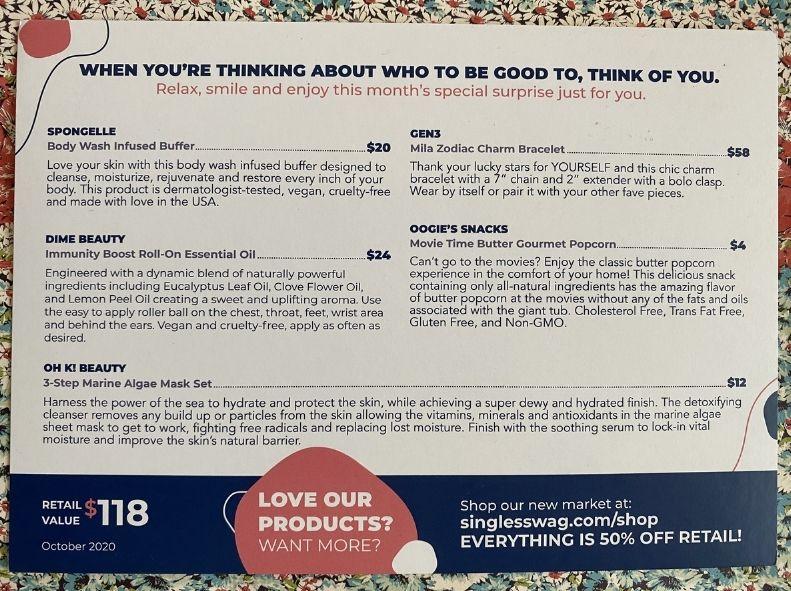 Product descriptions and values