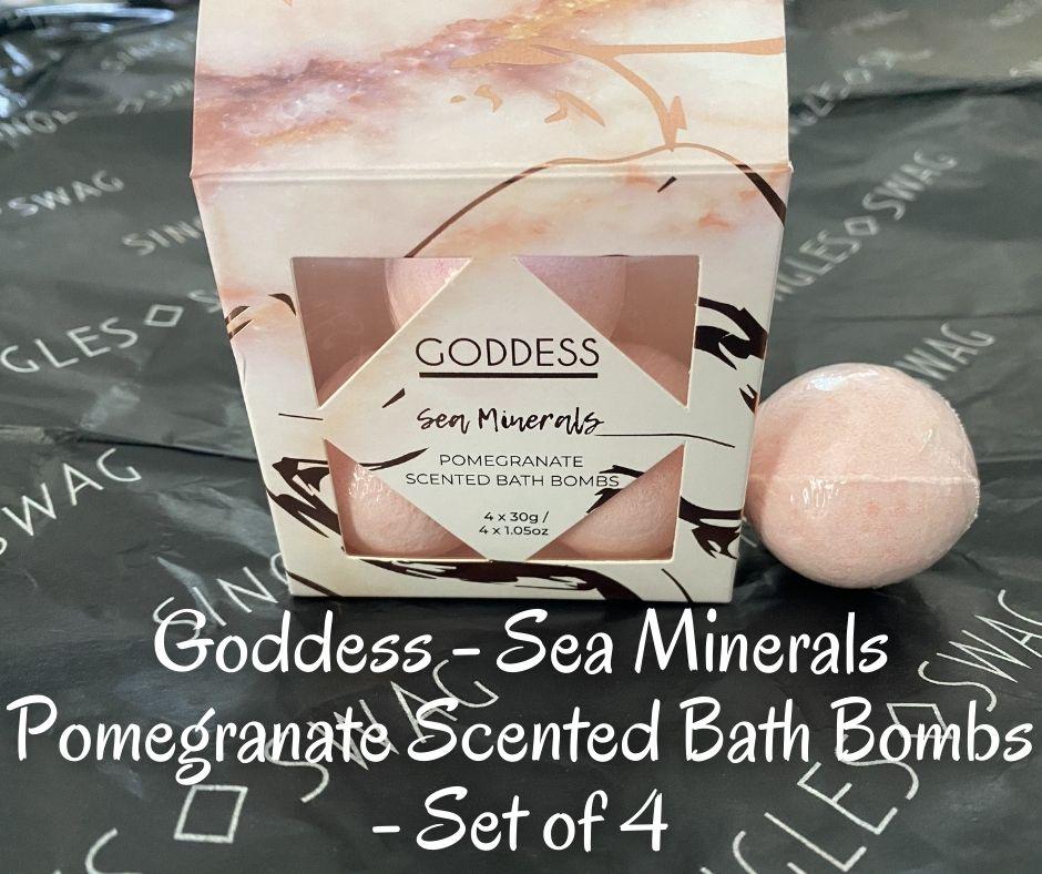 Goddess - Sea Minerals Pomegranate Scented Bath Bombs - Set of 4