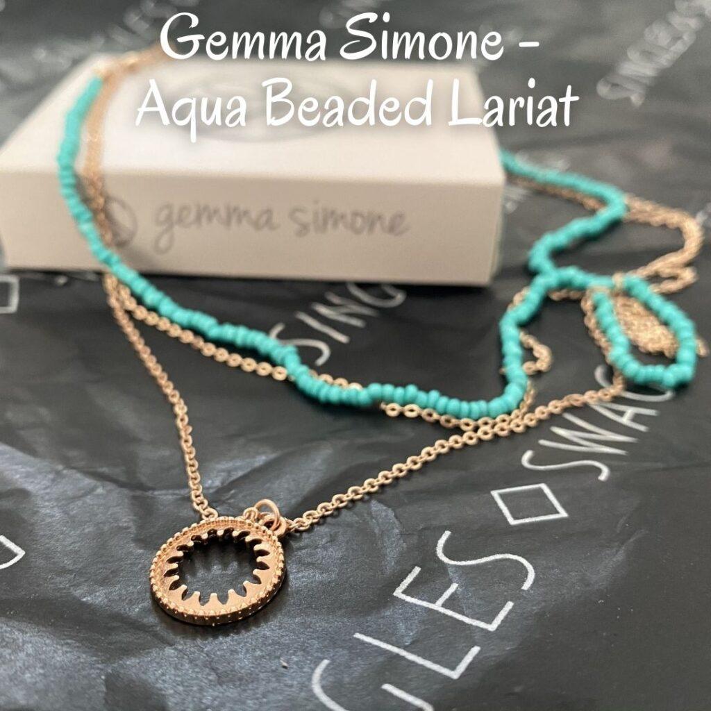 Gemma Simone - Aqua Beaded Lariat