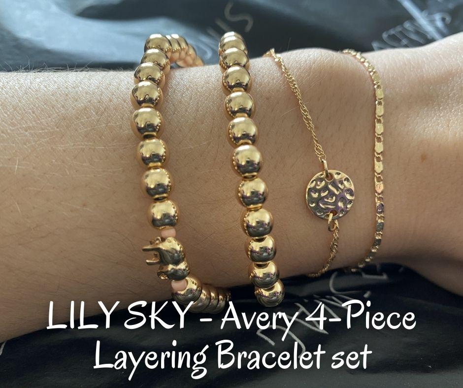 LILY SKY - Avery 4-Piece Layering Bracelet set