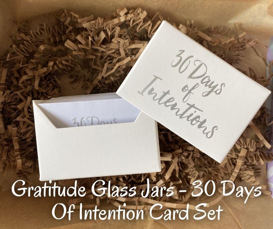Gratitude Glass Jars - 30 Days Of Intention Card Set
