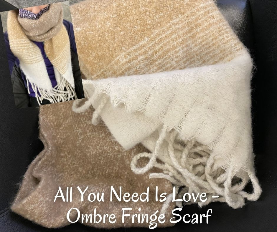 All You Need Is Love - Ombre Fringe Scarf