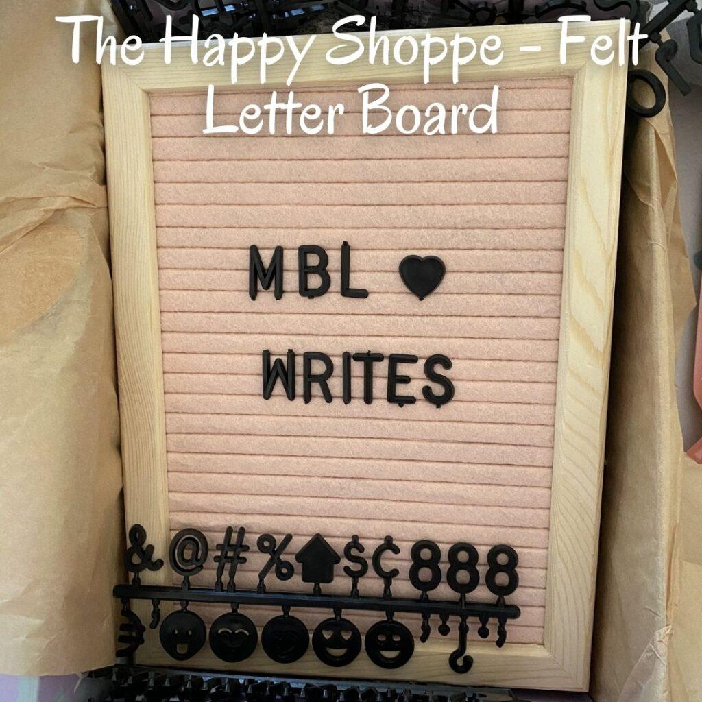 The Happy Shoppe - Felt Letter Board