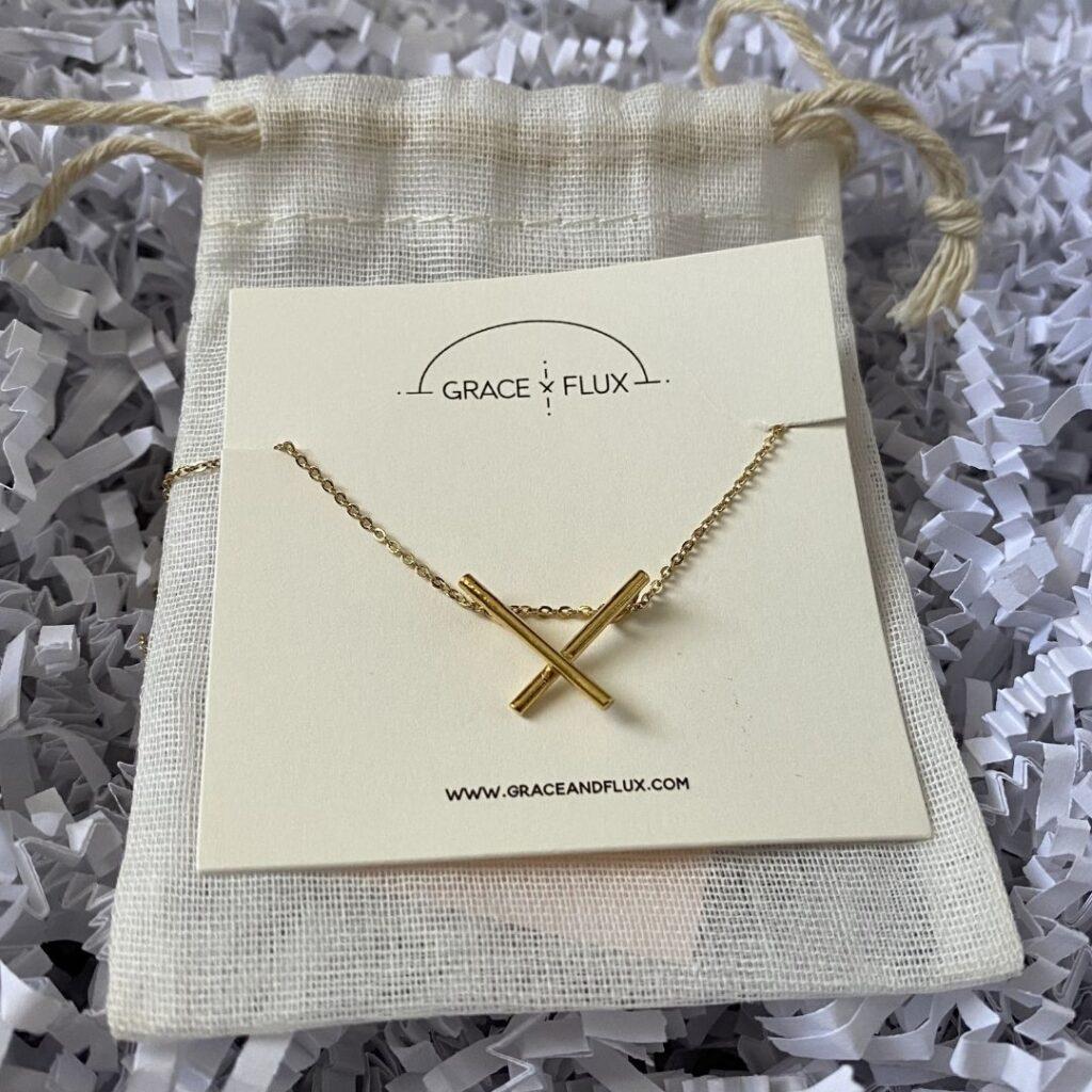 Mini X Necklace - Grace and Flux