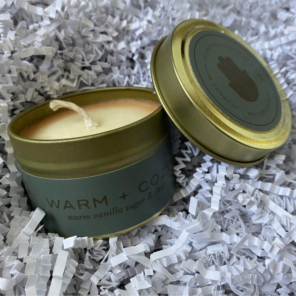 Warm + Cozy Soy Wax Candle - Shopbsby