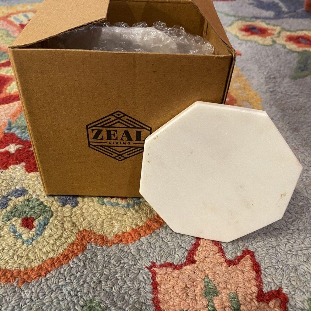 Zeal Living Marble Geo Coasters