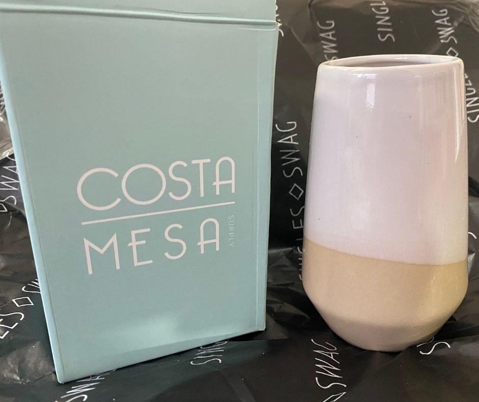 COSTA MESA SUPPLY - Isla  Two-Tone Decorative Vase | $24