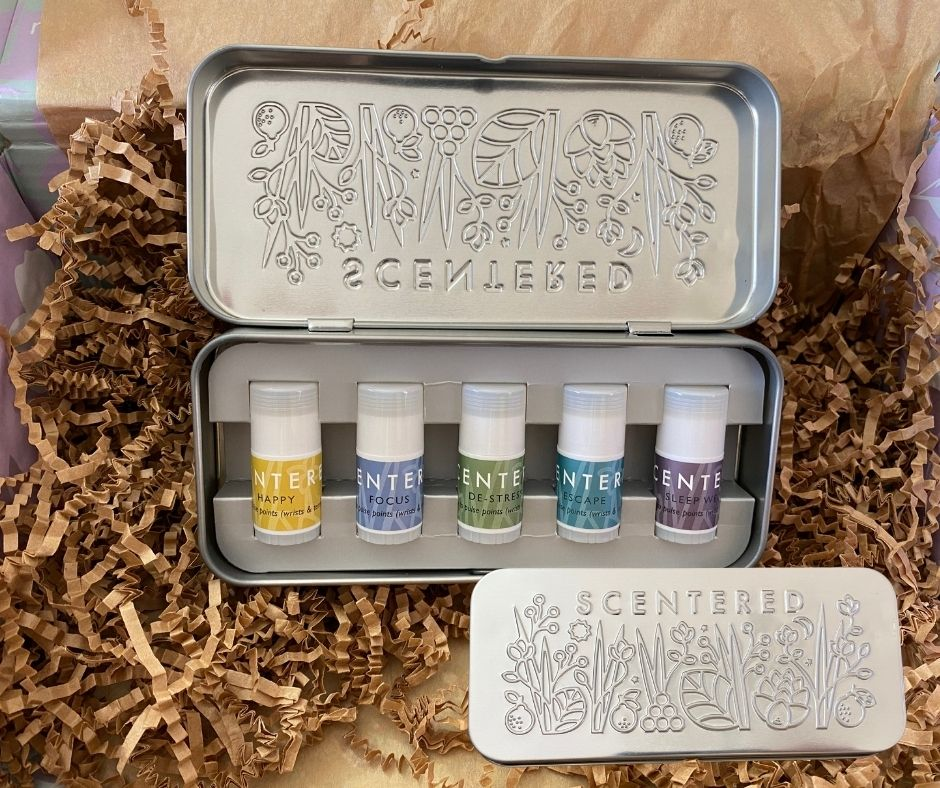 Scentered - Wellbeing Ritual Aromatherapy Tin | WWW.SCENTERED.ME | $36
