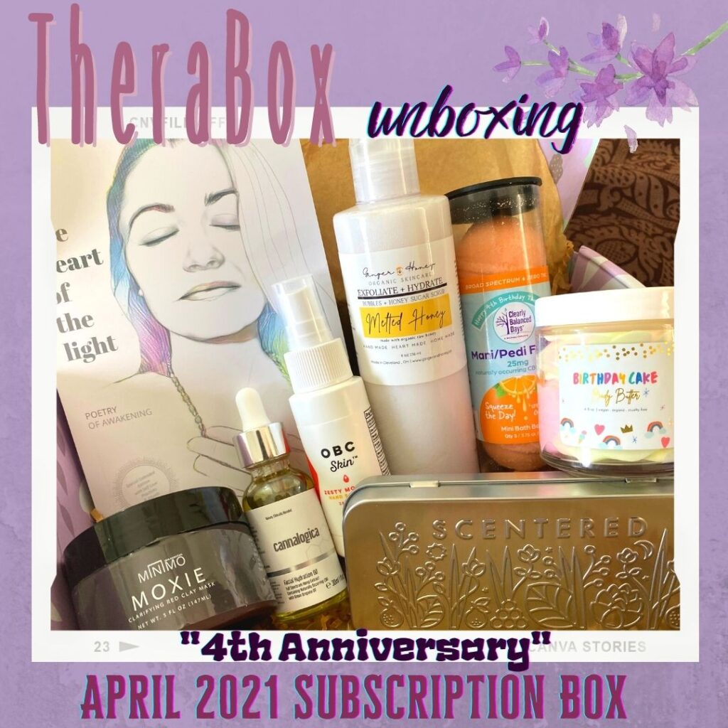"""TheraBox """"4th Anniversary"""" April 2021 Subscription Box Unboxing"""